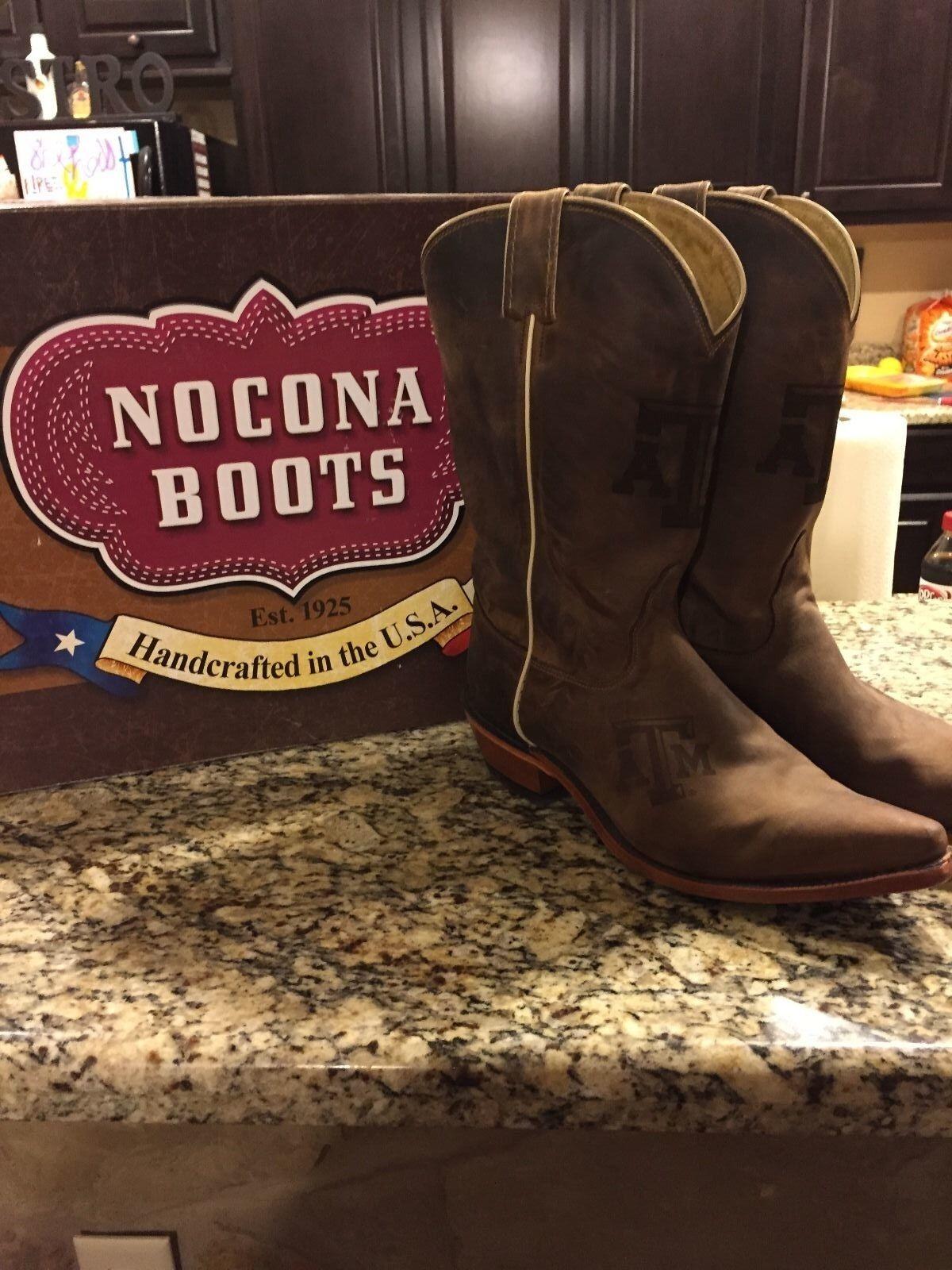 damen Nocona Texas A&M Cowboy Stiefel Größe 10