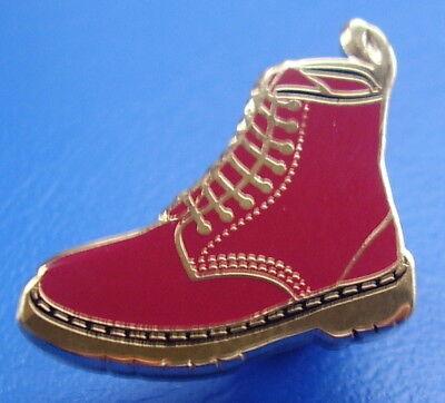 Aufrichtig Doc Martin Burgundy Boot Enamel Pin Badge