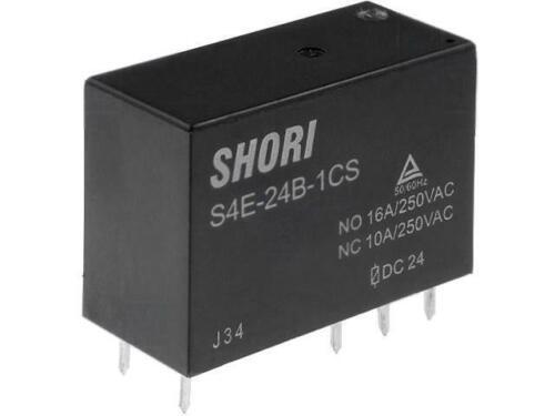 S4E-24V-1C Relais elektromagnetisch SPDT USpule 24VDC 16A//250VAC Mini S4E-24B-1C