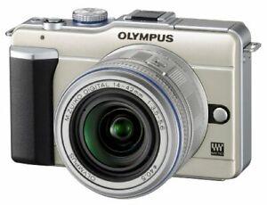 Olympus Mirrorless Single-Lens Pen E-Pl1 Lens Kit Champagne Gold E-Pl1 Lkit Gld