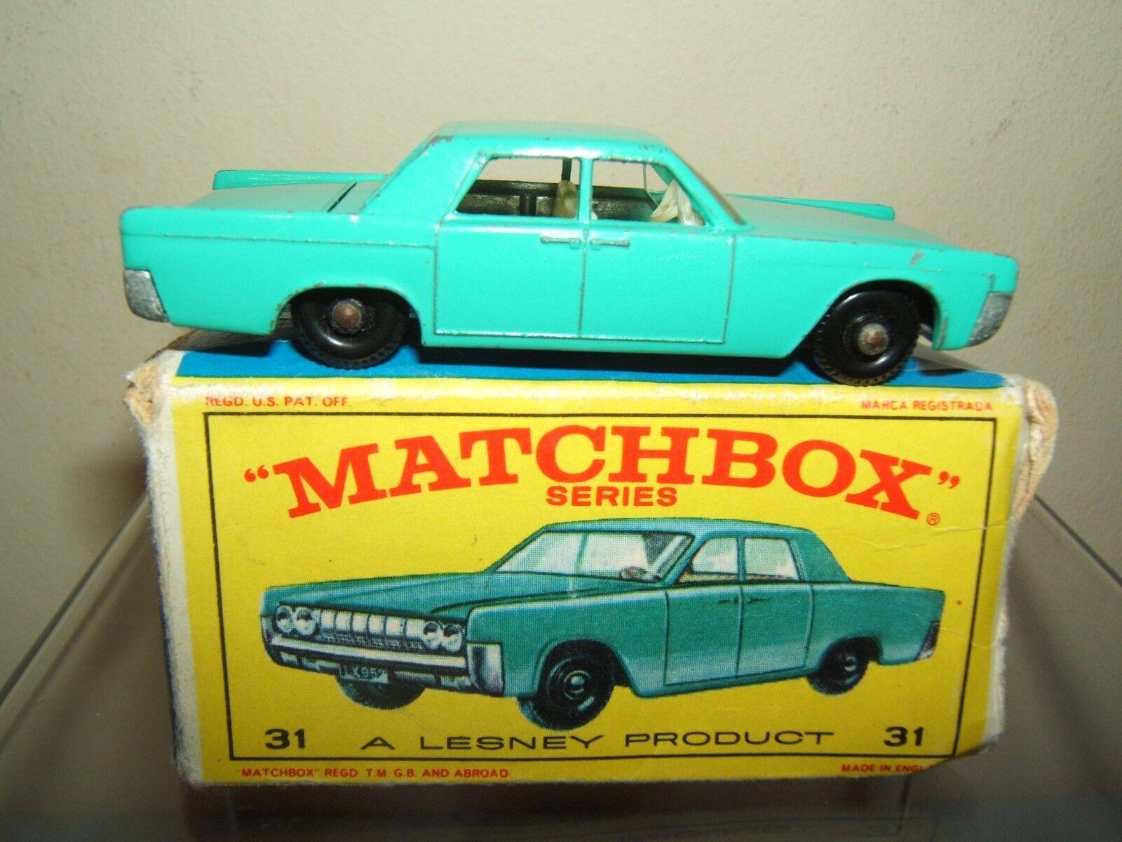 Matchbox Lesney Modelo NO.31c  Lincoln Continental  VN MIB