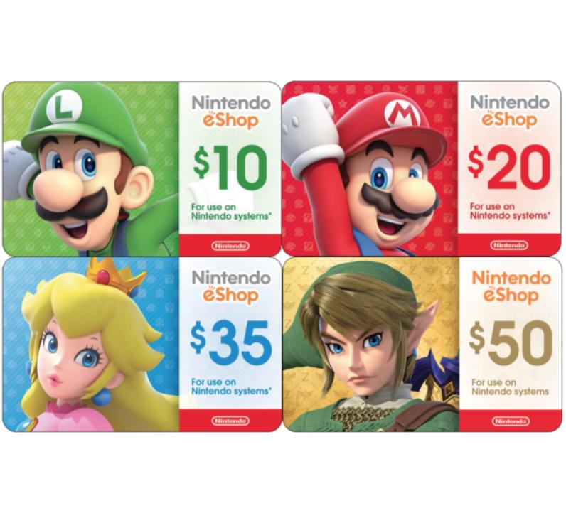 Sell Nintendo eShop Digital Card / Gift Card For Cash.