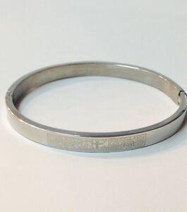 "Stainless Steel PADRE NUESTRO  Men/'s Bracelet /""Brand NEW/"""