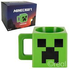 New Minecraft Plastic Creeper Face Mug Green Coffee Novelty 8oz Jinx Official