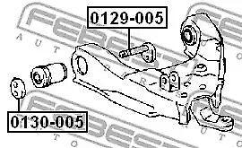 Camber Correction Screw FEBEST 0129-005