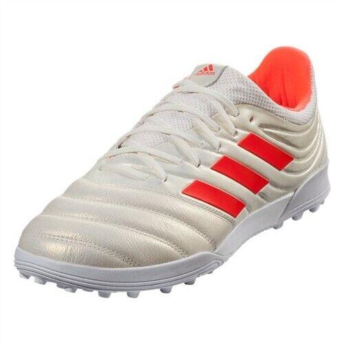 Scarpe calcetto uomo ADIDAS Copa 18.3 TF pelle bianco e rosso BC0558