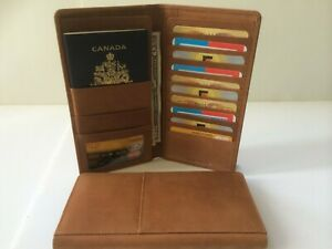 Mens-Womens-Passport-Travel-Leather-Wallet-w-10-Credit-Card-Holders