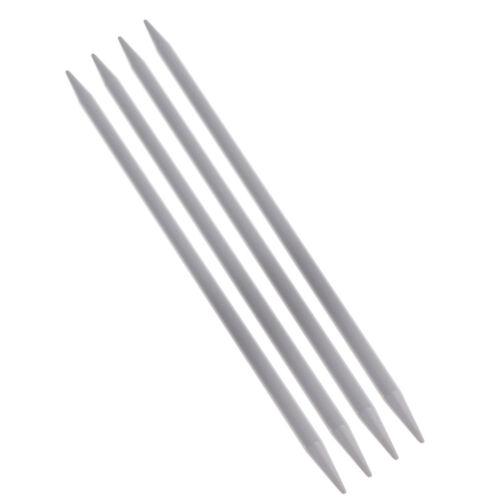 4 Pcs 7.87 inch Long Aluminum Double Pointed Knitting Needles DIY Craft