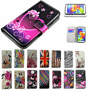 Girl-Women-PU-Leather-Case-Cell-Phone-Flip-Wallet-Cover-Stand-For-Samsung-Galaxy