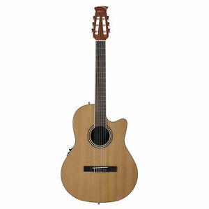 Ovation-Applause-Classical-Nylon-String-Acoustic-Electric-Guitar-Cedar-Natural