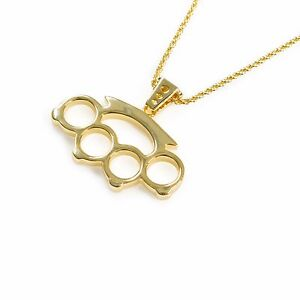 Han cholo brass knuckles pendant gold necklace 24 ebay han cholo brass knuckles pendant gold necklace 24 aloadofball Image collections
