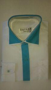 elegant-festliche-Kinderhemd-WEISS-Tuerkis-Hochzeit-Kommunion-Freizeithemd