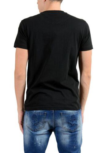 Roberto Cavalli Men/'s Black Graphic Leopard Crewneck T-Shirt Size s M L XL