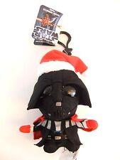 """STAR WARS SANTA DARTH VADER 4"""" TALKING PLUSH WITH CLIP NEW GREAT GIFT CHRISTMAS"""