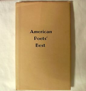 American-Poets-Best-1967-Volume-4-Compilation-Digest-Poetry-Hardcover-Book-w-dj