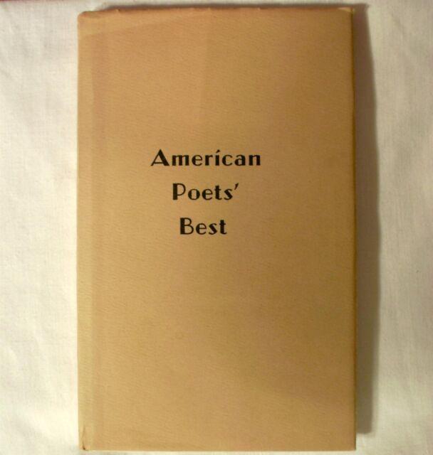 American Poets Best 1967 Volume 4 Compilation Digest Poetry Hardcover Book w dj