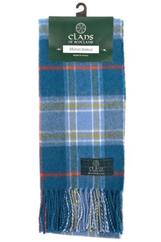 Scottish 100/% Wool Tartan Clan Tartan Scarf Musselburgh Brand New