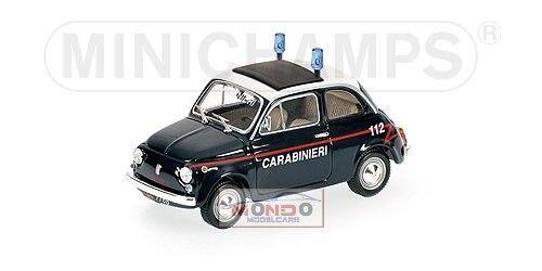 Fiat 500 Carabinieri 1965 Minichamps 1 43 400121690 Modellino Diecast