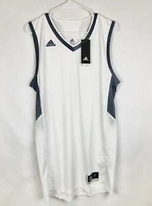 Adidas, Commander 15,White Basketball Jersey, Men's Size L,Active ...