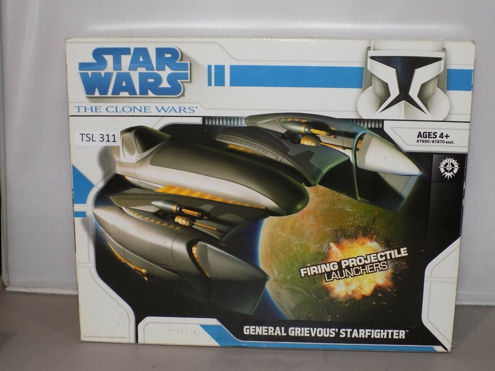 Star Wars 3.75 Clone Wars GENERAL GRIEVOUS' STARFIGHTER NIB (TSL 311)