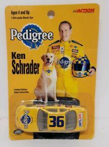 2000-Ken-Schrader-36-PEDIGREE-Limited-Edition-1-64-Racing-Champions-Nascar-Car