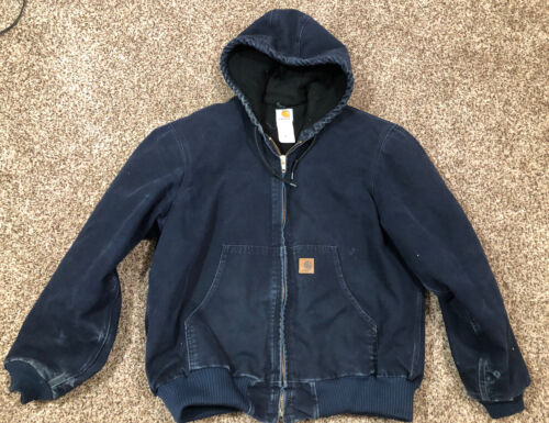 CARHARTT Blue Duck Canvas Quilted Lining  Chore Ja