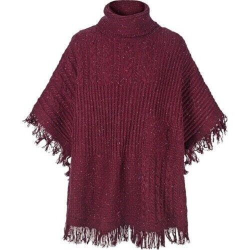 Fat Face - Women's - Blythe Poncho - Purple - 58% Cotton - BNWT