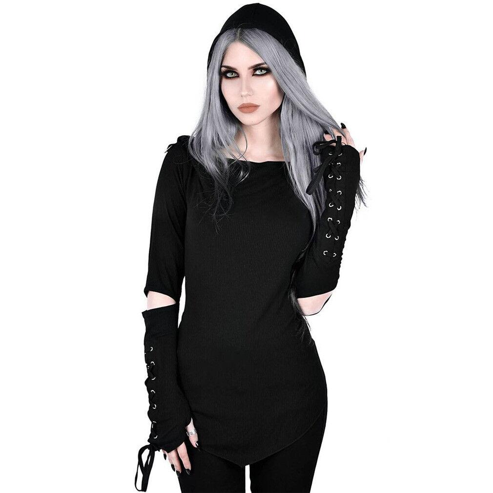 Killstar Gothic Goth Okkult Punk Kapuzentop Top - Blazing Betty Hoodie Schnürung