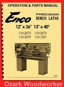 Pleasing Details About Enco 1236 13X40 Metal Lathe 110 2075 110 1351 Operators Parts Manual 1209 Caraccident5 Cool Chair Designs And Ideas Caraccident5Info