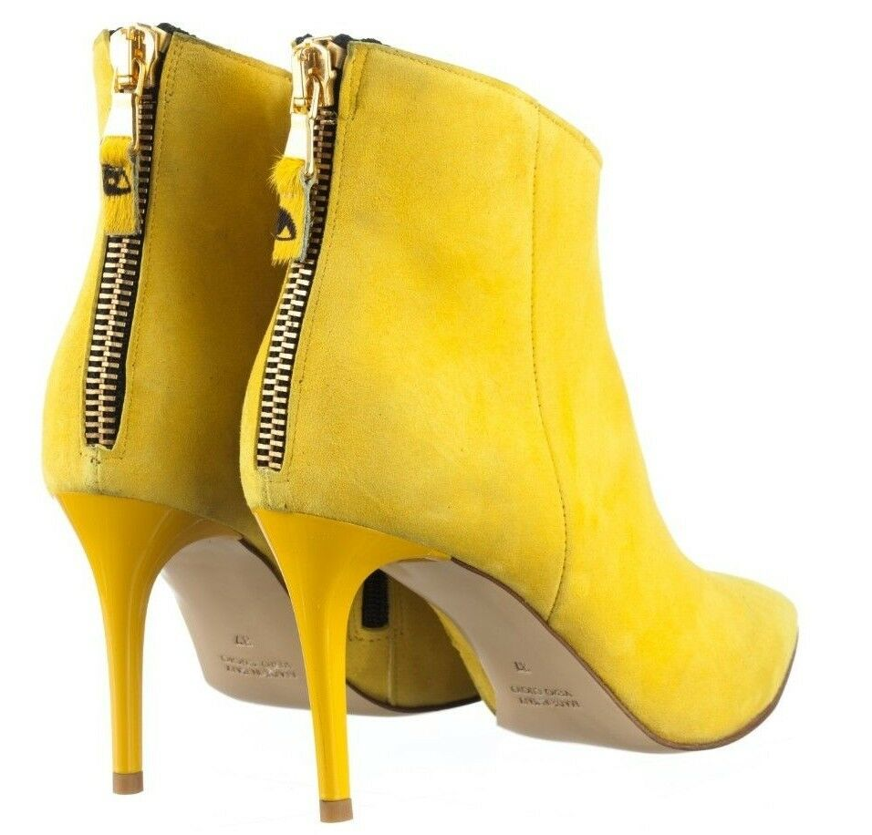 MORI MORI MORI MADE ITALY ANKLE BOOTS STIEFEL STIVALI SHOES SUEDE LEATHER YELLOW yellow 38 f660ae