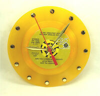 Elvis Presley Are You Lonesome - Recycled Yellow Vinyl Record Clock 45rpm 7