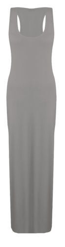 WOMENS LADIES JERSEY MUSCLE RACER BACK MAXI LONG VEST SUMMER DRESS PLUS SIZES