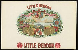 "LITTLE BERDAN ~ Cigar Box Tobacco Label - 10"" x 6 1/2"""