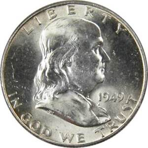1949 D 50c Franklin Silver Half Dollar US Coin Uncirculated Mint State