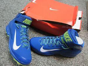 59adf068d7a11 Nike Air Huarache Pro Mid Metal Mens Blue Baseball Cleats 599235 417 ...