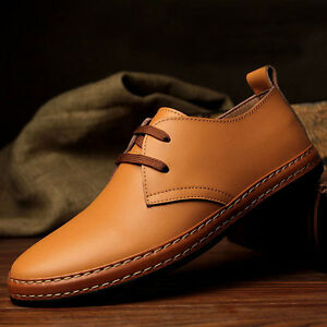 new european style genuine leather shoes men's oxfords