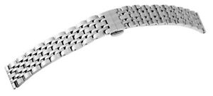 Edelstahl-Glieder-Uhrenarmband-Silber-18-20-22-24-26-mm-Faltschliesse-X-8100075