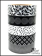 MAXI LOT Masking tape (x5) Masking Tape SCOTCH DECORATIF Artemio NOIR BLANC DIY