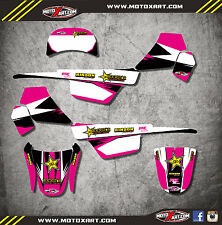Custom Graphics for Yamaha PW 50 pee wee- All years mx decals  BOLD PINK STYLE