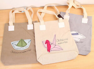 651fd68723d Details about Childhood Memories origami Canvas Eco Bag Tote Handbag  Shopper Purse Cute Korean