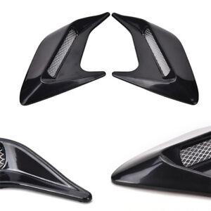 2-Pcs-Black-Car-Body-Fender-Side-Vent-Hood-Air-Flow-Grille-Decorative-Stickers