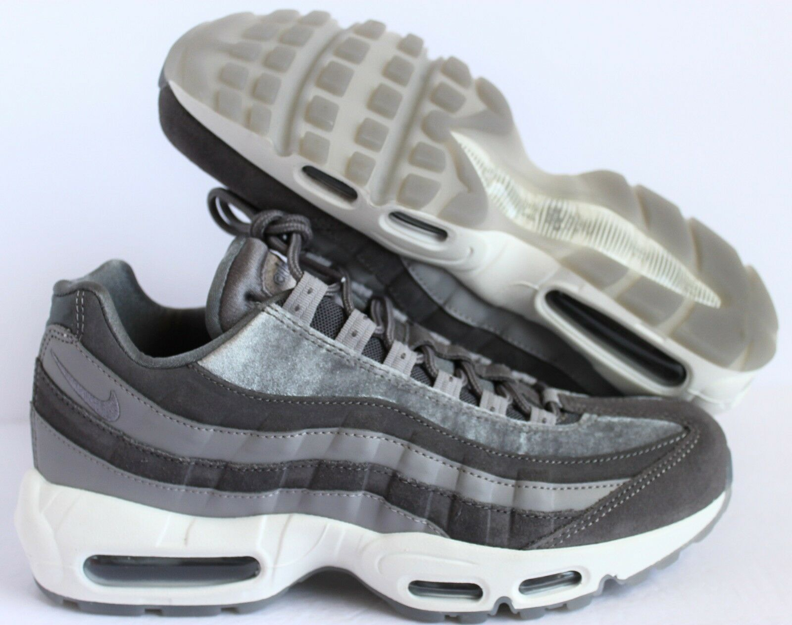 Nike Women Air Max 95 LX GUNSMOKE WHITE sz 8