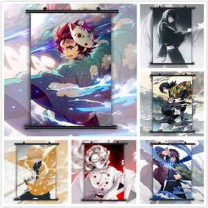 Demon Slayer Kimetsu No Yaiba HD Canvas Print Wall Poster Scroll Room Decor