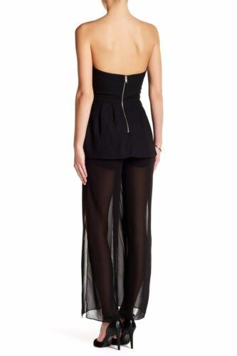 b082 Nbd Strapless Nbd Jumpsuit Black Sz Nwt Xs 178 w8OFAwTq