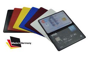 EC-Kartenhuelle-NEU-Mappe-2-Karten-Ausweis-Visitenkartenetui-Tasche-Schutzhuelle
