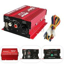 12V 2-CH 500W Mini Hi-Fi Stereo Audio Amplifier Amp Subwoofer For Car Motorcycle