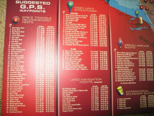 OHIO Fishing Lake Erie Fishing Map Walleye Bass Perch Ohio GPS New!