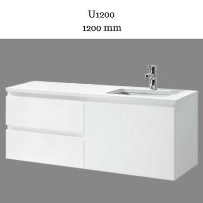 Bathroom Vanity Cabinet Unit 1200 Mm White Stone Ceramic Basin Sink Wall Hung Ebay