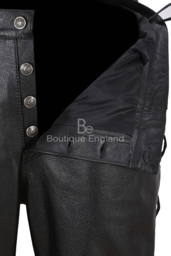 Men Leather Trouser Black Laced Motorcycle Style100/% HIDE LEATHER 00126