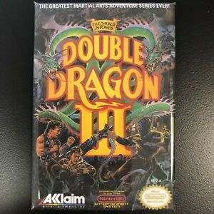 Double Dragon Iii Fridge Magnet 2 X 3 Inches Nes Nintendo Box Art Acclaim Ebay